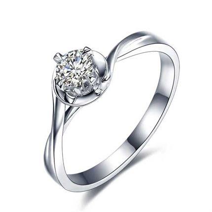 【相恋】 白18K金 钻石女士戒指