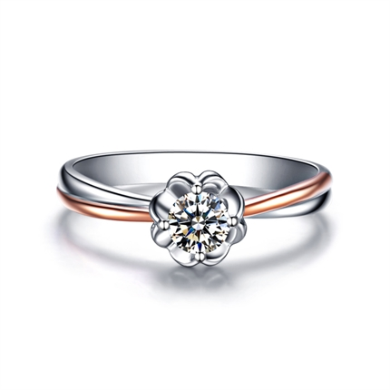【浪漫情花】 18K金50分/0.5克拉钻石戒指