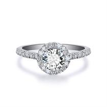 【向日葵】 白18K金钻石女士戒指