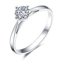 【典美知心】 白18K金 钻石女士戒指