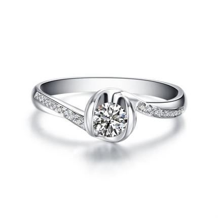 【流珠】 白18K金鉆石女士戒指