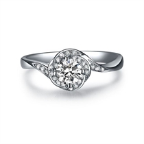 【繁星】 白18K金 钻石女士戒指