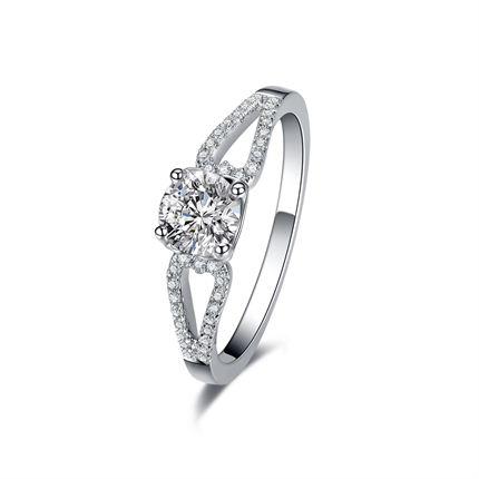 【摩天輪】系列 白18K金鉆石女士戒指