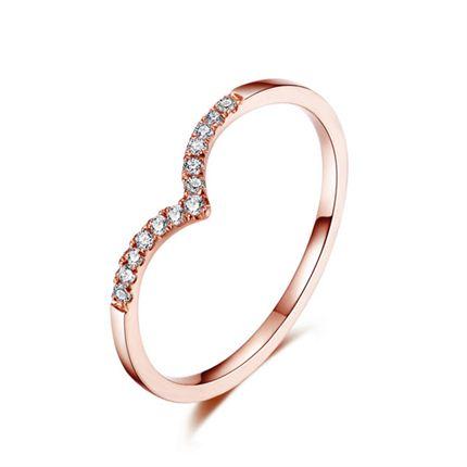【画心】 玫瑰18K金钻石戒指