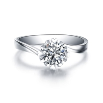 【捧花】 白18k金求婚订婚结婚钻石戒指