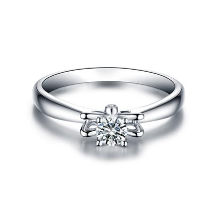 【悦神】 白18K金25分/0.25克拉钻石女士戒指