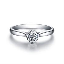 【动心】 白18K金 钻石女士戒指
