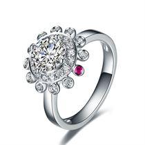 【摩天轮】系列 白18K金女士戒指