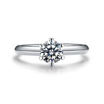 【挚爱经典-加冕我】 白18K金30分女款钻石戒指