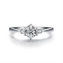 【挚爱-加冕我】 白18K金30分求婚订婚结婚钻石女戒