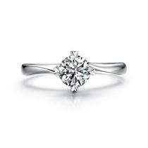 【挚爱-倾慕我】 白18k金浪漫钻石戒指