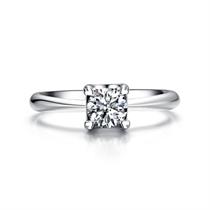 【挚爱经典-倾慕我】 白18K金30分时尚钻石女士戒指