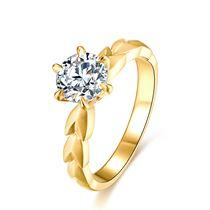 【麦穗】系列 18k金钻戒六爪求婚结婚戒指