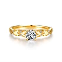 【麦穗】系列 黄18K金30分/0.3克拉钻石女士戒指