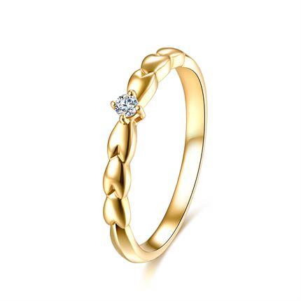 【麦穗】系列 18k金钻戒时尚新款求婚结婚戒指