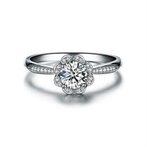【捧花】 白18k金求婚结婚钻石戒指