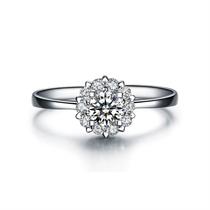 【触电】 白18K金40分豪华群镶钻石女士戒指