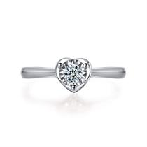 【浪漫心】 白18k金浪漫求婚订婚结婚钻石女戒