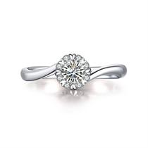 【挚爱】 白18K金20分/0.2克拉钻石女士戒指