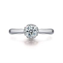 【挚爱-珍藏我】 白18K金女款钻石戒指