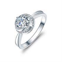 【玫瑰人生】 白18k金浪漫30分求婚钻石戒指