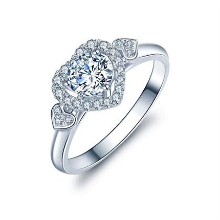 【挚爱】 白18K金50分/0.5克拉钻石女士戒指