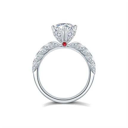 【女神的嫁衣】 白18k金钻石30分40分50分婚戒
