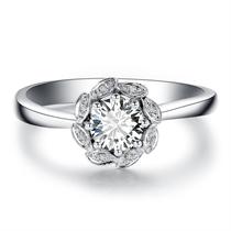 【花色】 白18K金50分钻石戒指