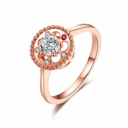 【摩天轮】系列 玫瑰金钻石密斯戒指