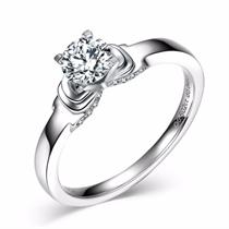 【蝶爱】 白18K金50分钻石女士戒指