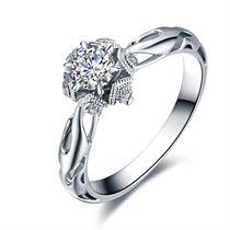 【初雪】系列产品 白18K金30分/0.3克拉钻石女士戒指