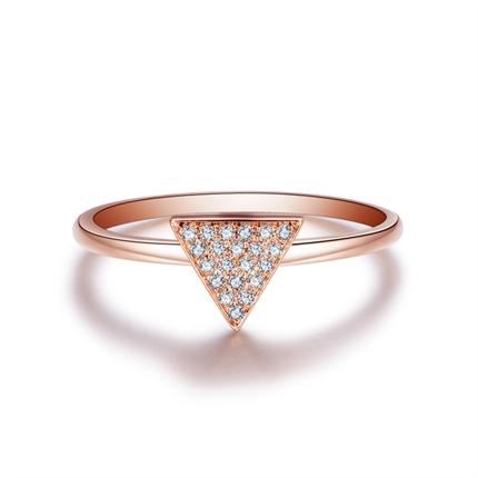 【几何】 玫瑰金女士戒指