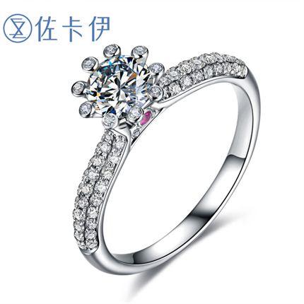 【摩天轮】系列 白18K金 钻石密斯戒指