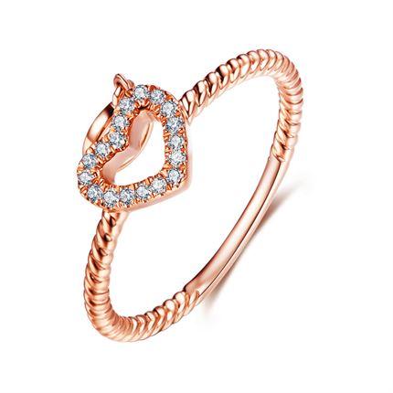 【心】系列 玫瑰金女士戒指