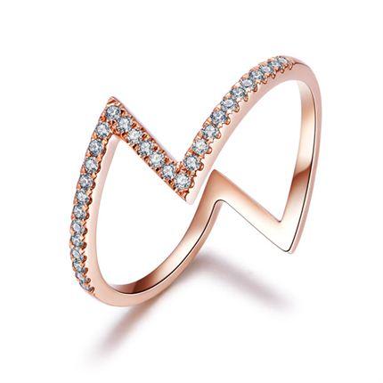 【Z系列】 玫瑰金女士戒指