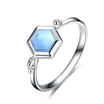 【巢】系列 白18K金女士戒指