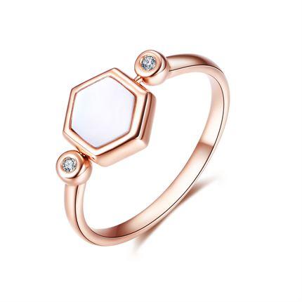 【巢】系列 K金時尚個性鉆石戒指