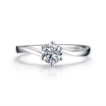 【挚爱-加冕我】 白18K金30分钻石女款戒指