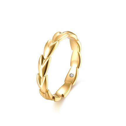 【麦穗】系列 18k金钻石戒指求婚钻戒结婚女戒