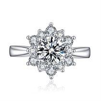 【初雪】系列 白18k金钻戒女戒钻石求婚结婚戒指