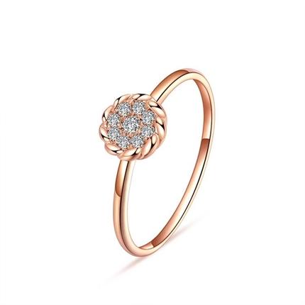 玫瑰金钻石戒指 玫瑰金女士戒指