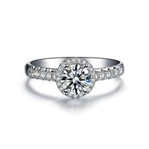 【永恒摩天轮】 白18K金钻戒女款结婚钻石戒指