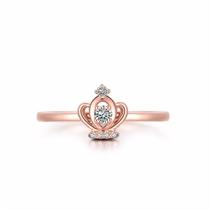 【皇冠】 玫瑰金女士戒指