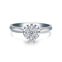 【花火】 白18k金群镶钻石女士戒指
