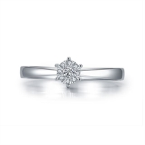 【花火】 白18k金时尚求婚订婚结婚钻戒