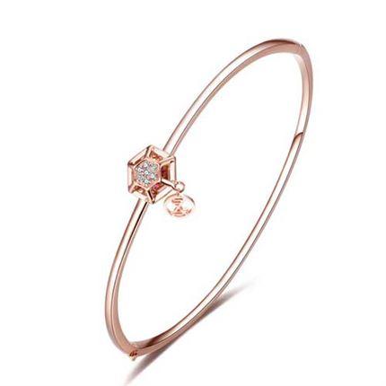 【咱们相爱吧】巢系列 玫瑰金钻石女士手镯
