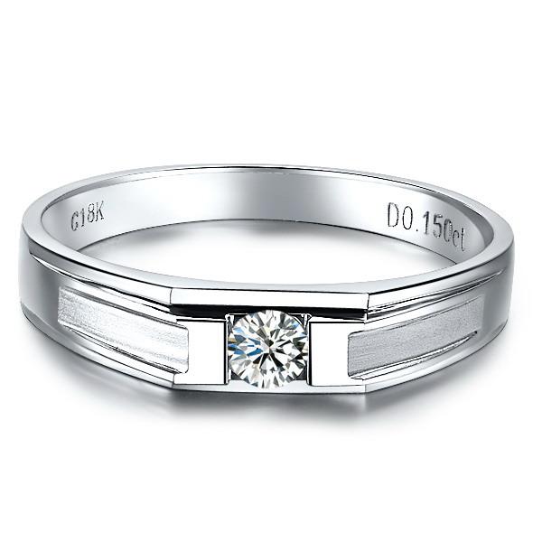 》》点击进入【恋恋一生】 白18k金10分/0.10克拉钻石戒指