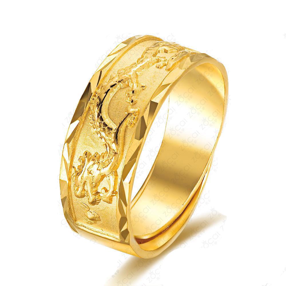 龙翔 千足金男士戒指-钻石男钟爱的钻石男戒