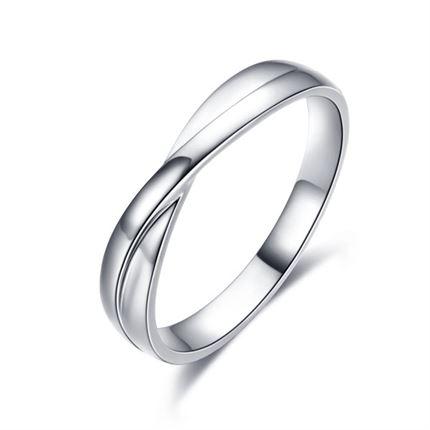 【相遇】 白18k金男士戒指