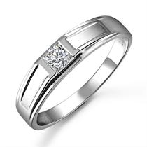 【恋恋一生】 18K白金钻石戒指(男女同款)